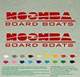 "Unite of Moomba Boats Outboards Decals Vinyl Stickers Boat Outboard Motor Lot of 2 (24"", Red 031)"