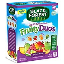Black Forest Fruity Duos Liquid Burst Center Fruit Snacks, Mixed Fruit Flavor, 0.8 Ounce Bag, 40 Count