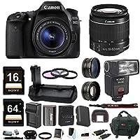 Canon EOS 80D Digital SLR w/ 18-55mm f/3.5-5.6 Lens & TTL Flash & Battery Grip & 80GB Bundle Key Pieces Review Image