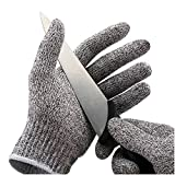 Cut-Resistant Safety Gloves Einfachheit Cut Proof Resistant Gloves Hand Protection Food Grade Whittling Knife Mandolin Woodcarving (Small, Dark Gray)