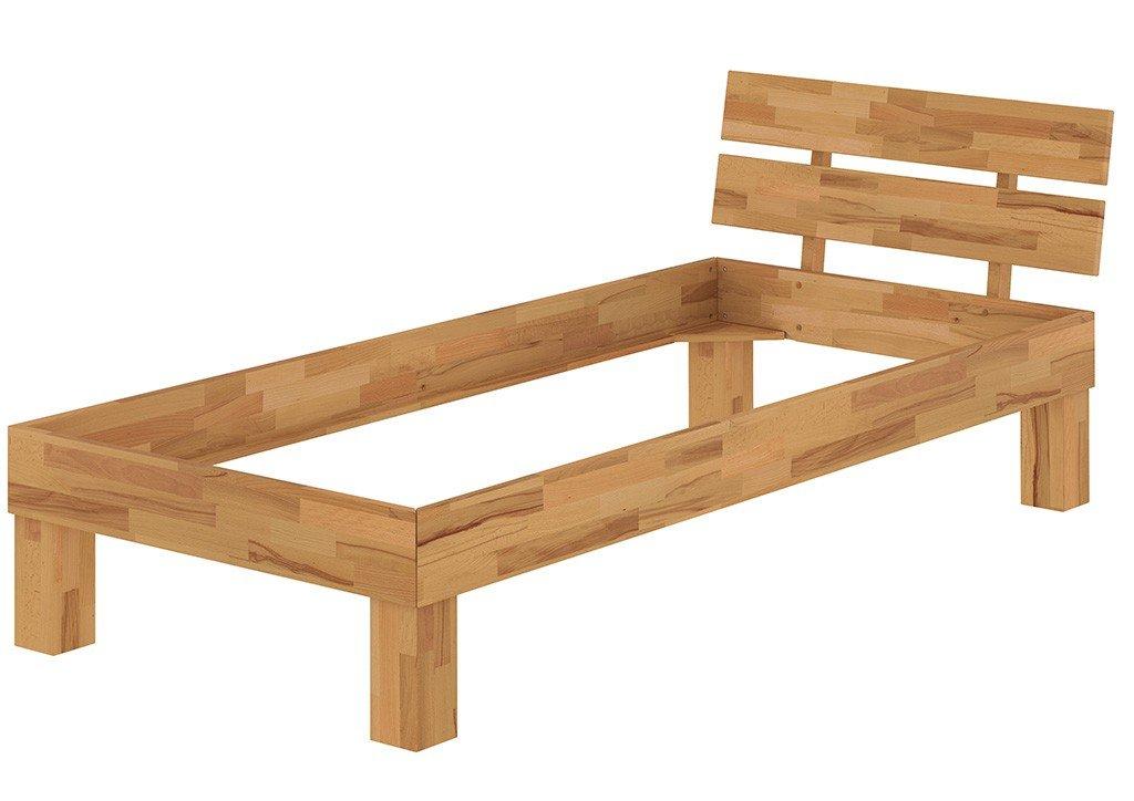 Erst-Holz® Einzelbett Jugendbett 90x200 Buchebett Natur Massivholz-Bettgestell ohne Zubehör 60.86-09 60.86-09 60.86-09 oR 327036