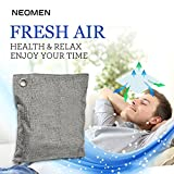 Bamboo Activated Charcoal Air Purifying Bag. Chemical Free, Odor Eliminator Deodorizer, Air Purifier for Cars, New House, Bathrooms, Pet Areas. Best to Eliminate Odor, Formaldehyde, Benzene, Ammonia.