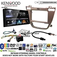 Volunteer Audio Kenwood DDX9904S Double Din Radio Install Kit with Apple CarPlay Android Auto Bluetooth Fits 2011-2013 Buick Regal (Brown)