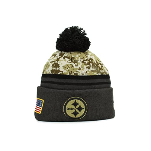 ... Pittsburgh Steelers New Era NFL 2015 Salute to Service 39THIRTY Cap   New Era 2016 Men s Salute to Service Knit Hat ... 108795986