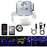 AKEPO 32W APP Twinkle Fiber Optic Lights Kit Music Activated RGBW Star Ceiling Sky Light, 1000pcs 16.4ft/5m 0.03in/0.75mm Opt