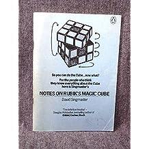 Notes on Rubik's 'Magic Cube' by David Singmaster (1-Apr-1981) Paperback