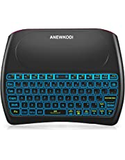 Wireless Mini Keyboard and Mouse Combination Touchpad, 2019 New Upgraded Rechargeable Multimedia Handheld Remote Control