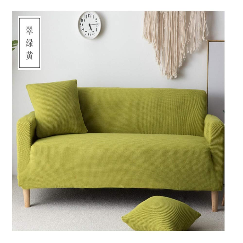 3seat VGUYFUYH Green Plush Thick Slip Sofa Cover Polyester All-Inclusive Stretch Home Universal Sofa Cover Simple Fashion One Set Durable Dust Pet Dog Predective Cover,3Seat
