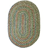 RRI Home Décor Sonya Indoor/Outdoor Oval Reversible Braided Rug, 2x3', Moss Multicolor