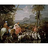 Oil painting 'Lione Andrea di El viaje de Jacob 17 Century ' printing on Perfect effect canvas , 18 x 22 inch / 46 x 57 cm ,the best Powder Room artwork and Home decoration and Gifts is this Best Price Art Decorative Canvas Prints