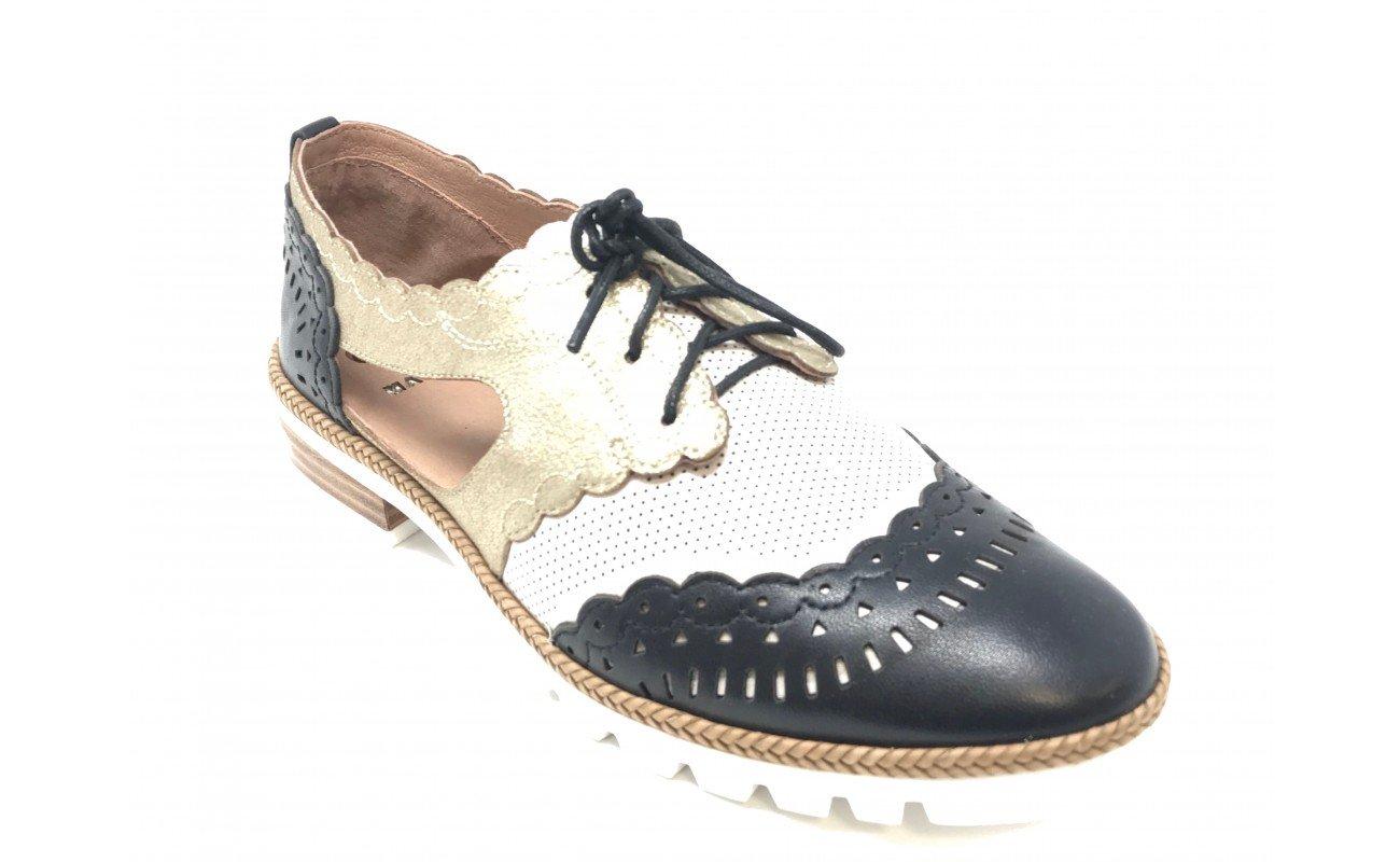 Mam'zelle - Zapatos de Cordones de Otra Piel Mujer 39 EU|Negro