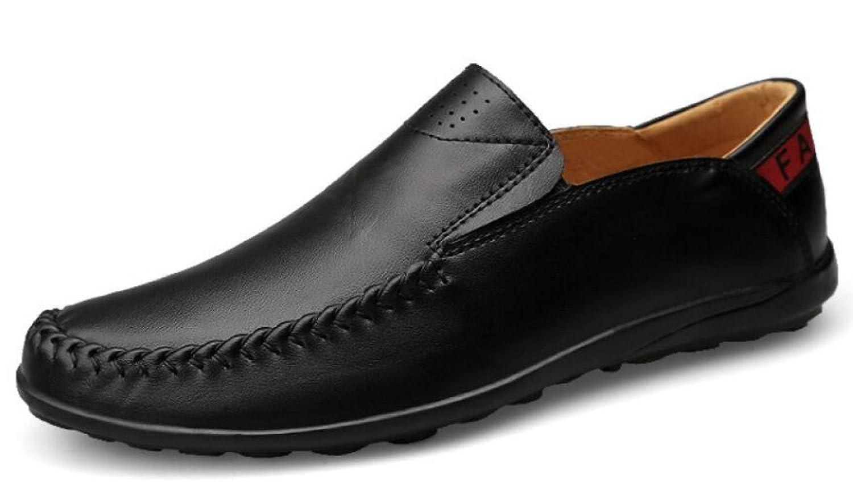 GTYMFH Feder- Leder- Herren- Atmungsaktive Faule Schuhe Fahrschuhe Freizeitschuhe Einzelne Schuhe