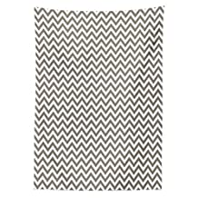 Chevron Tablecloth Grey and White Zig Zag Striped Pattern Modern Design Home Decorative Art Print Dining Room Kitchen Rectangular Table Cover