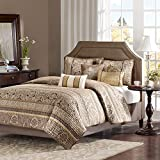 Madison Park Quilt Traditional Damask Design All