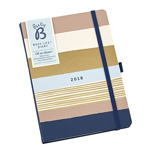 """Busy B 2018 6850 A5 """"Busy Life"""" Contemporary Design Diary"""
