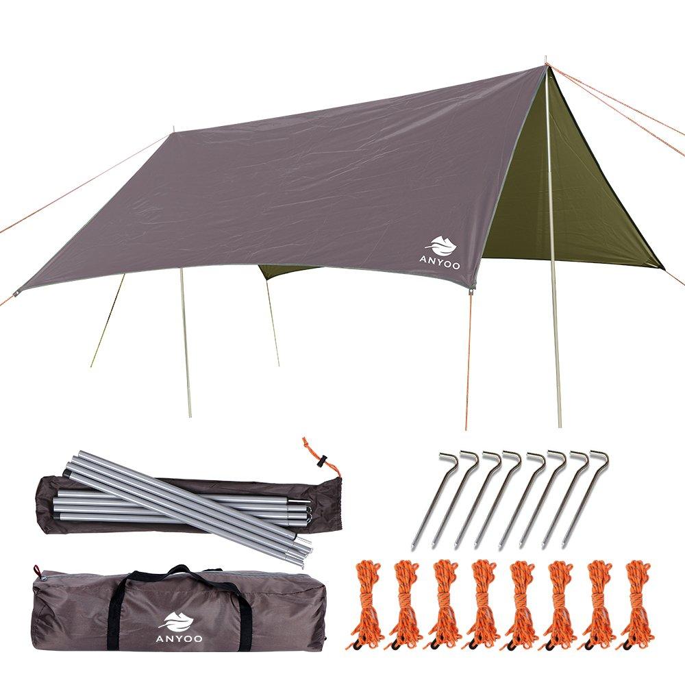 Anyoo Ripstop Regen Schutzdach Strand Zelt Hängematte Ausw (Auswählen, braun)