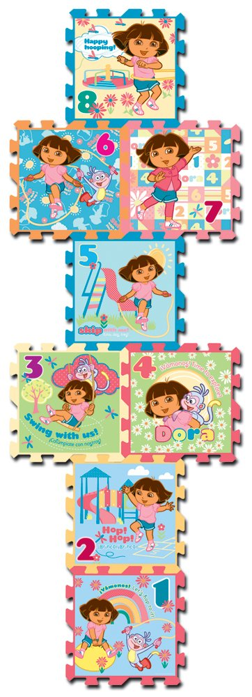What Kids Want Dora Hopscotch, 8-Piece by What Kids Want