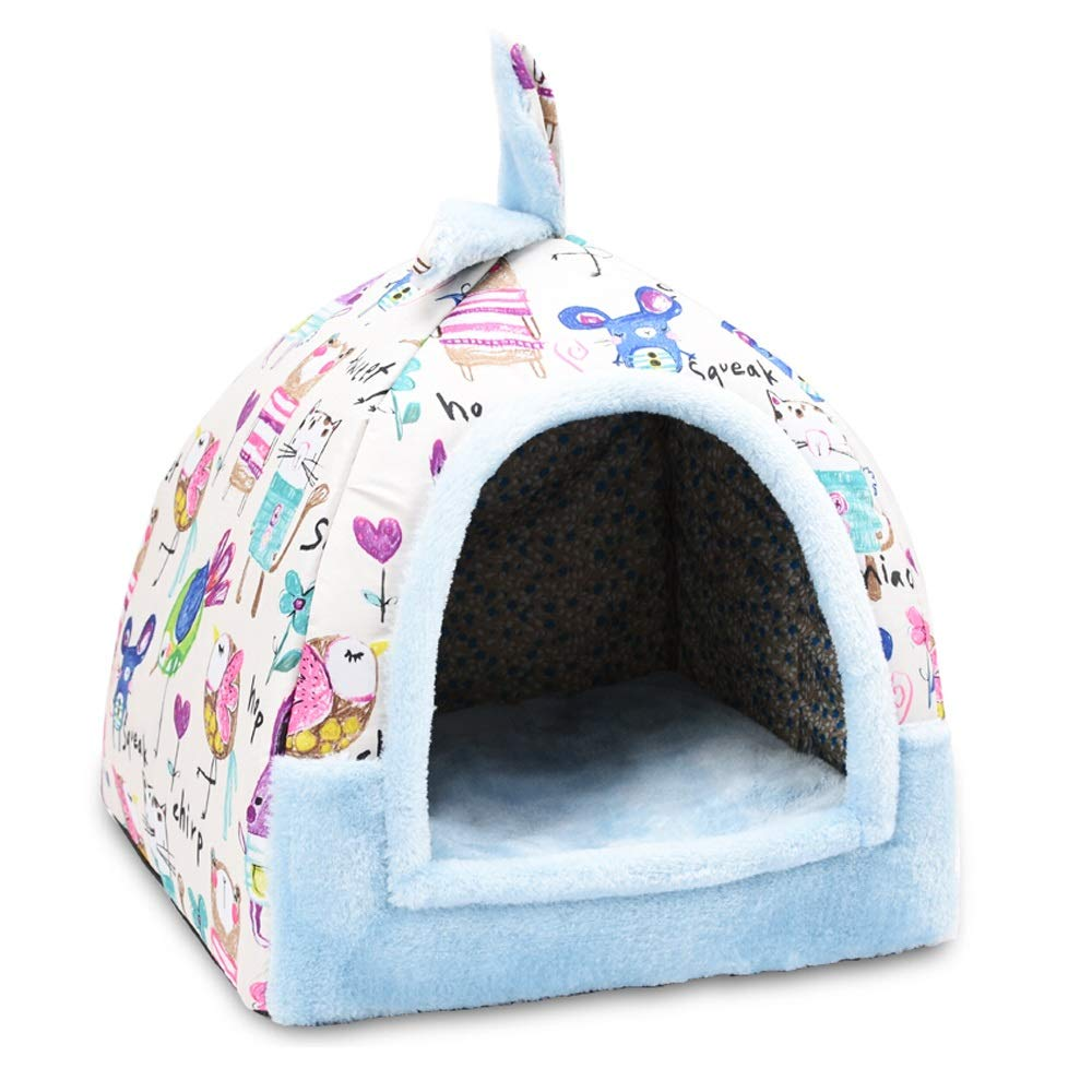 B 474752cm B 474752cm XF Pet Bed Pet Nest Cute Washable Small Dog Teddy Pet Nest Kennel Cat Litter Four Seasons Universal Pet Supplies Three Sizes Pet Supplies (color   B, Size   47  47  52cm)