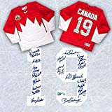 Paul Henderson 1972 Summit Series Team Autographed Canada Jersey #/72 - 18 Autographs