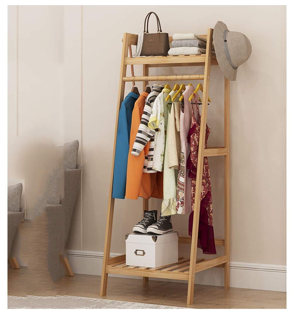 50140cm WYQSZ Hanger Floor Bedroom Storage Storage Bamboo Space Hanging Clothes Rack Coat Rack Rack Hanger - Coat Rack 8563 (Size   100  140CM)