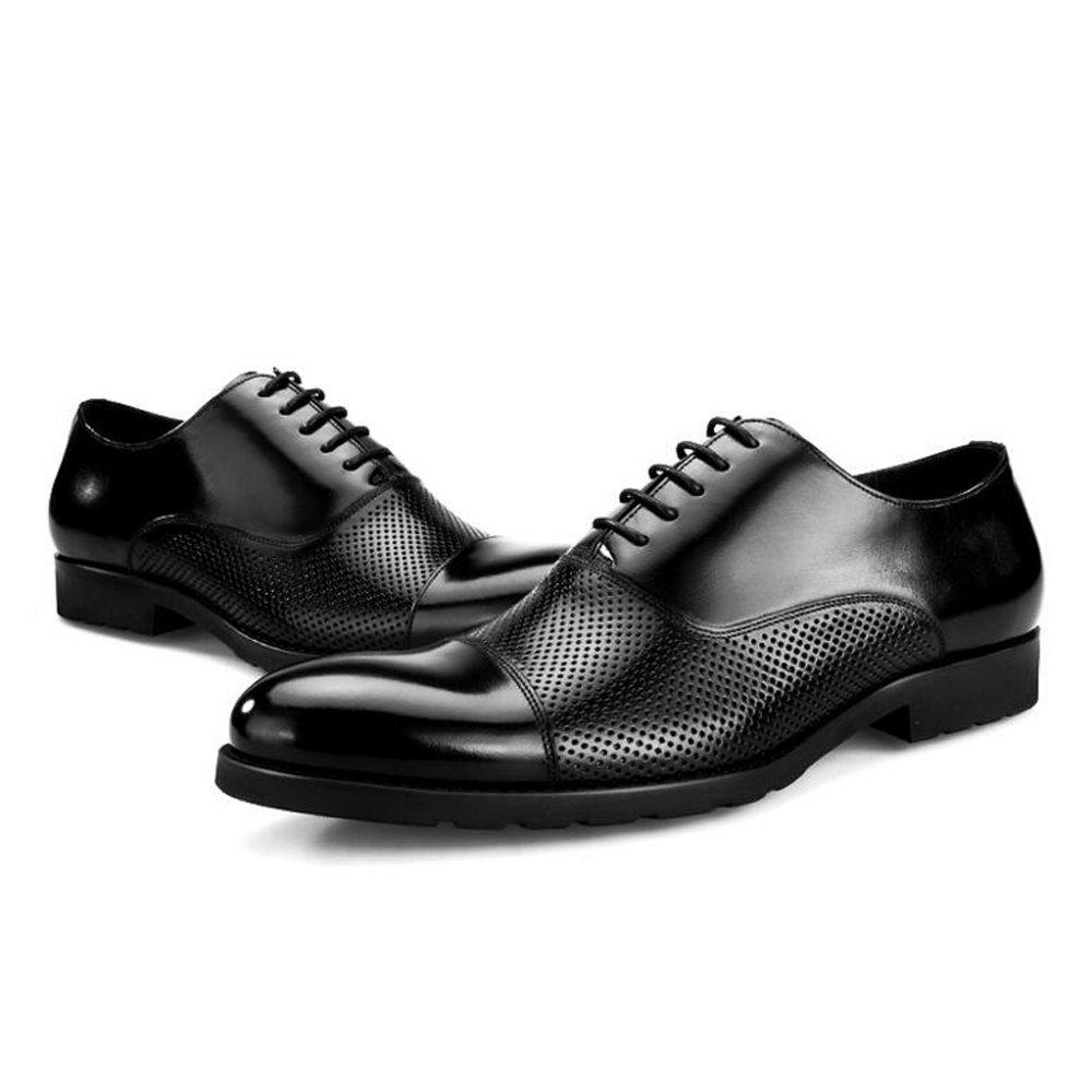 GAOLIXIA Sommer Herren Kleid Schuhe - High-End-Geschäft-Schuhe - Herren Leder hohl atmungsaktive Sandaleen - formelle Kleid Schuhe Größe 6-11