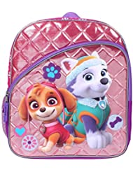 Paw Patrol Skye and Everest 14 Quilted Backpack with Side Mesh Pockets