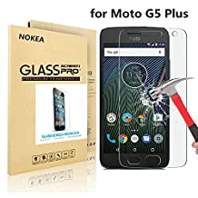 Moto G5 Plus Screen Protector, NOKEA [Tempered Glass] with [9H Hardness] [Crystal Clear] [Easy Bubble-Free Installation] [Scratch Resist] for Motorola Moto G Plus 5th Gen [5.2 Inch]