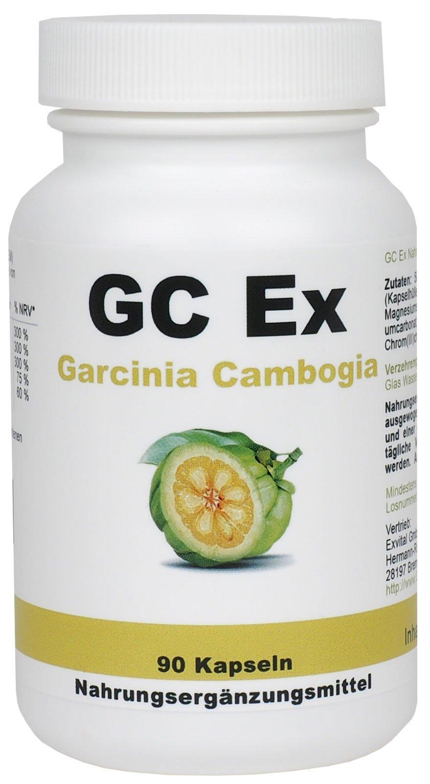 GC Ex, 1500 mg Garcinia Cambogia Extrakt, 90 Kapseln in Premiumqualität, hochdosiert, 100% natürlich 1er Pack (1x 77g) product image