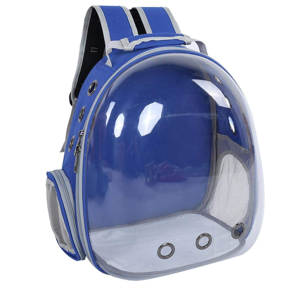 Deep bluee Pet Carrier Backpack Space Capsule Multiple Air Holes Transparent Breathable Pet Cage Waterproof Carrying Bag Rucksack for Travel Hiking Walking Outdoor Use(Green)