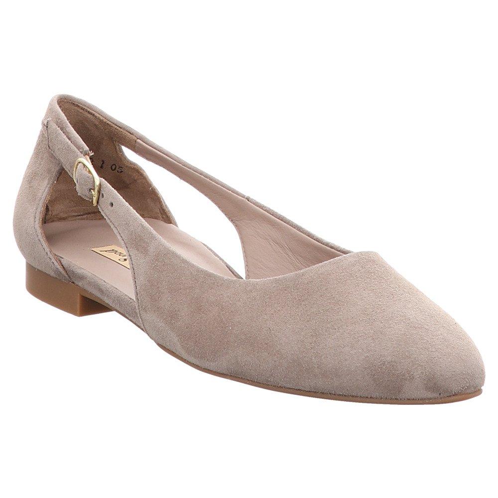 3254-022 Damen Sohle Ballerina aus wertigem Leder Flexible Sohle Damen mit Absatz Grau 346244