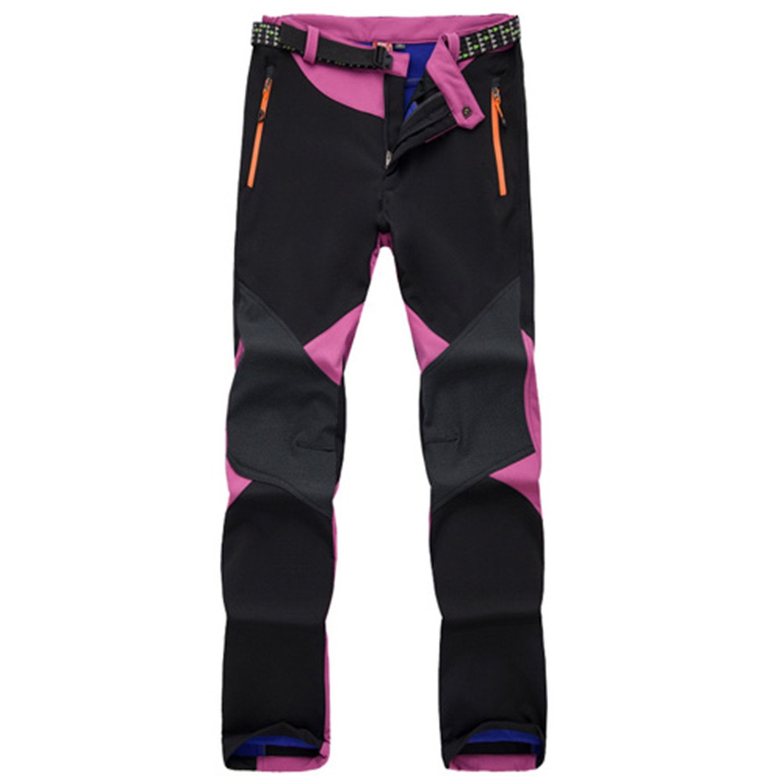 Purple Willie Marlow Women Hiking Pants Thermal Waterproof Outdoor Sport Camping Softshell Climbing No Belt
