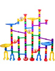 122 Pcs Marble Run Set Toys for 3 4 5 6 7 8 Year Old Boys Girls, Imaginarium Construction Building Blocks STEM Toys Deluxe Marble Maze Game Christmas Toys Best Gifts for Kids Children