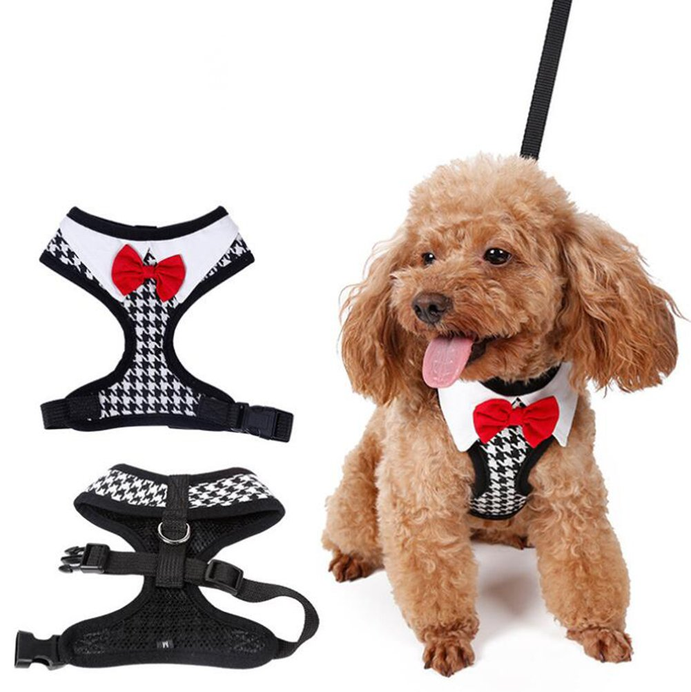 Large Outdoor Pet Vest Harness Breathable Soft Air Mesh Puppy Dog Vest Traction Rope Pure Cotton Cloth Comfortable and Close VH-9721