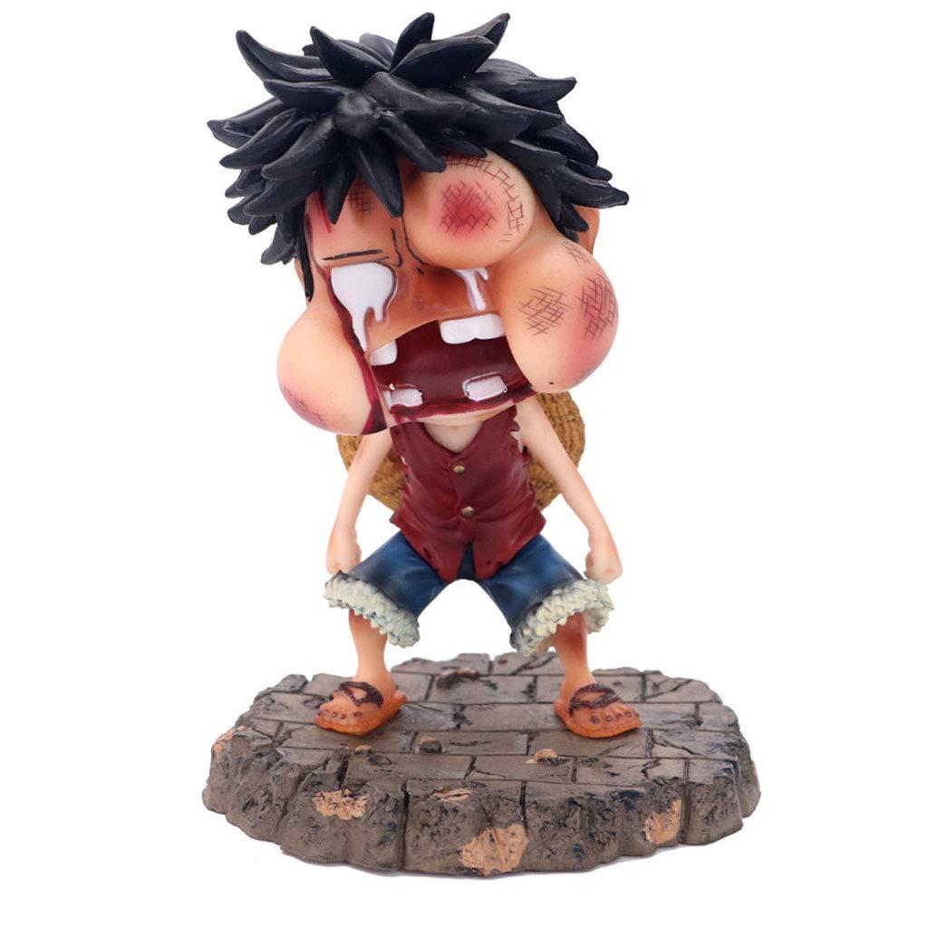 DUDDP Giocattolo Anime One Piece  Pirate Portrait Gonfiore Volante Lucking Road Flying PVC Modello Souvenir Gift Toy Collection Modello Artigianato Place 15cm Modello di Anime