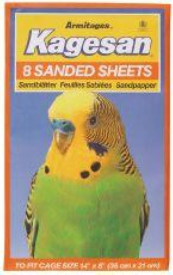 Armitages Pet Products Limited Armitages Kagesan Sand Sheets No3 35x21cm 8 Sheets x 12 by