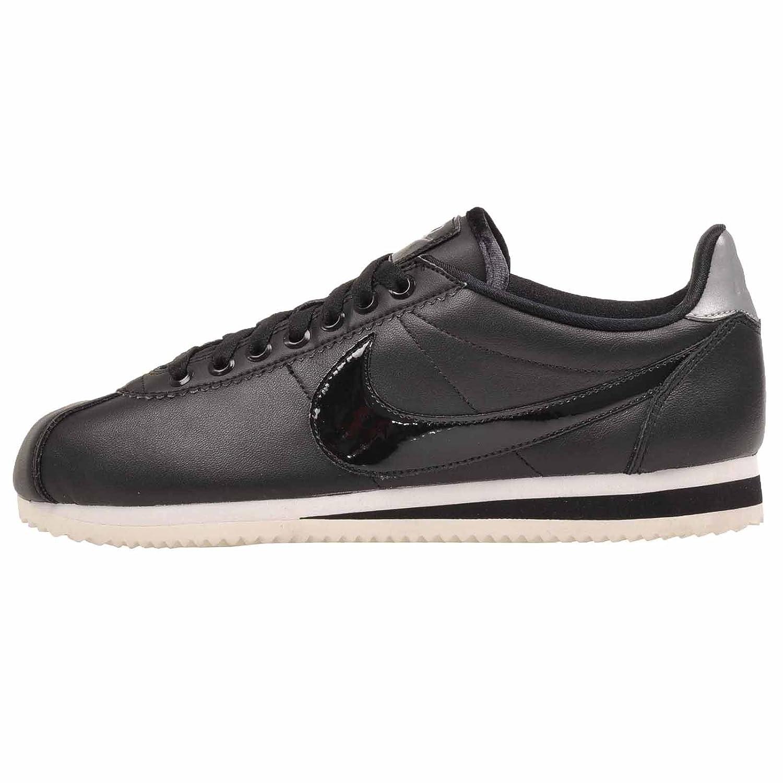 NIKE Women's Shoe Classic Cortez Leather Casual Shoe Women's B0763RHVN2 9 M US|Black/Black-Reflect Silver 546615