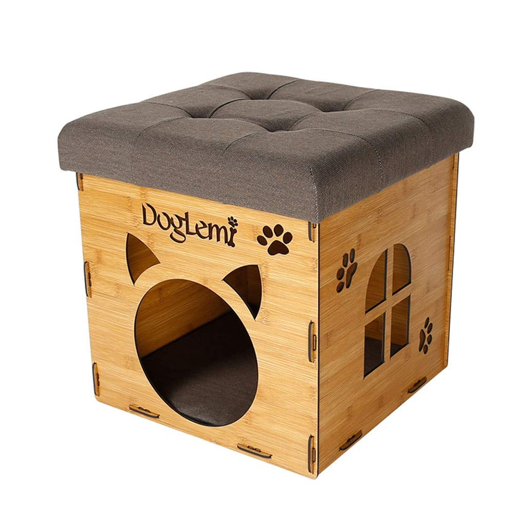 People Pet Dual-use Living Room Stool Cat Nest Home Decorations Summer Cat Villa Pet Supplies Cat Bed