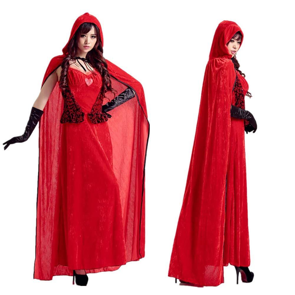 CWZJ Halloween Cosplay Kostüm Prinzessin Kostüm Rotkäppchen Burg Queen Dress Up Weihnachtsspiel-Set Für Karneval Themen Party