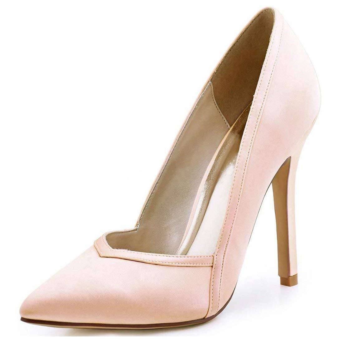 HhGold Damen Spitz Stiletto High Heel Rosa Rosa Rosa Satin Hochzeit Abend Pumps UK 6.5 (Farbe   -, Größe   -) e7c801