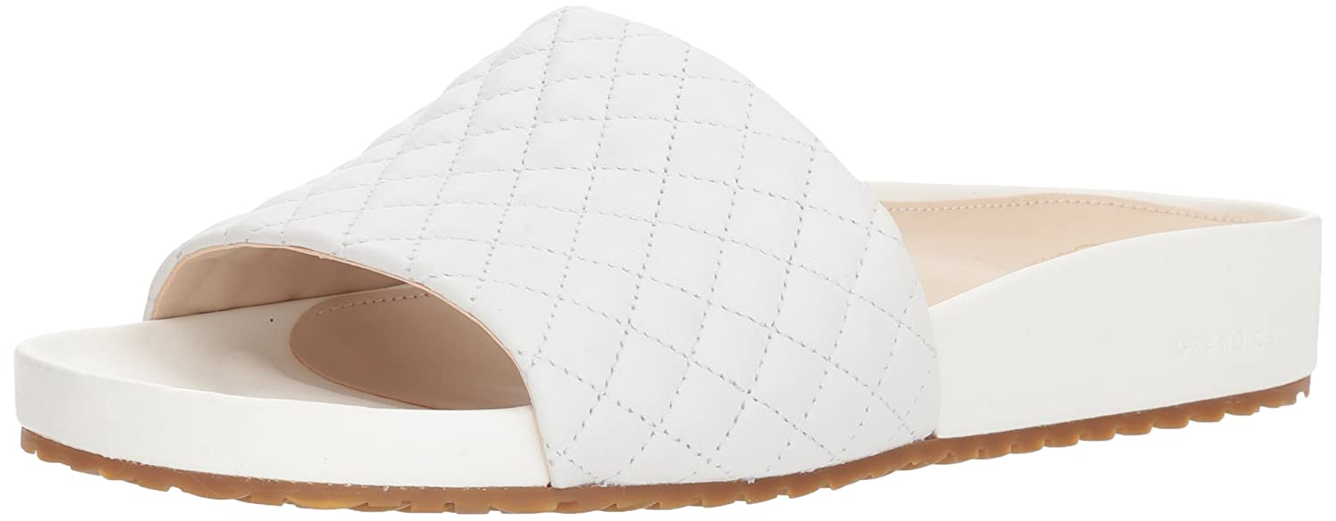Cole Haan Women's Pinch Montauk Slide Flat Sandal B07CN88LZ6 7.5 B(M) US|Optic White Quilted Leather