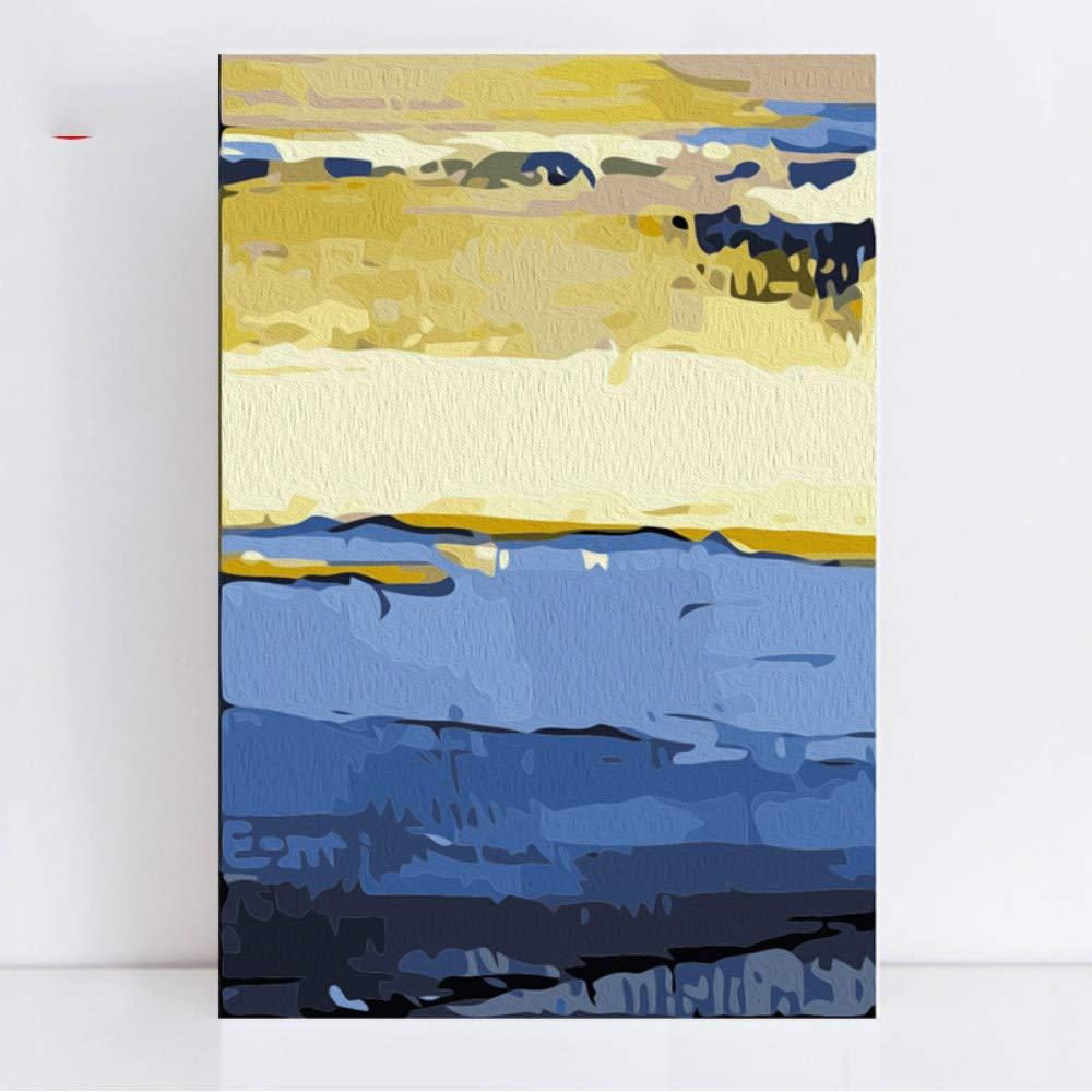Pmhhc Frameless Malen Malen Malen Nach Zahlen Malen Nach Zahlen Abstrakter Blauer Himmel Ozean Mehrere Collage, Die Sich Selbst Farbige Gemälde Nach Zahlen Buchstabiert 5b17e5