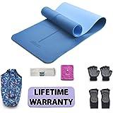 EILISON - Esterilla de yoga profesional, antideslizante, respetuosa con el medio ambiente, con correa de transporte, alfombri