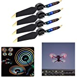 Rechargeable LED Light Flash Low-Noise Foldable Quick-Release Propellers with USB Cable for DJI Mavic Pro/Mavic Platinum Dron