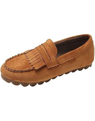 Yvelands Mujeres Liquidación Moda para Mujer Borla Punta Redonda Plana Casual Mocasín Zapatilla Doug Shoes