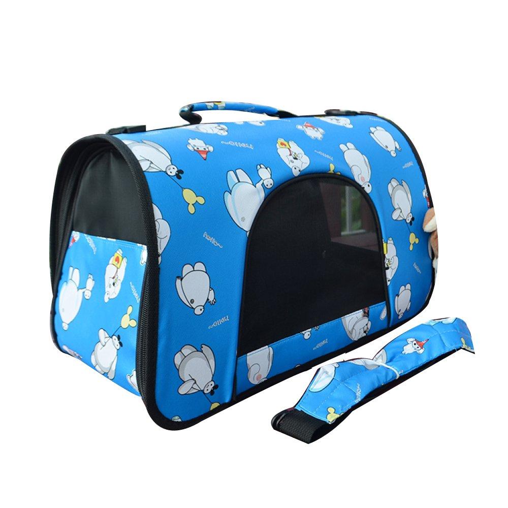 bluee SmallAYCC Pet Backpack, Dog Travel Bag, Casual Dog Bag, Handbag, Pet Shoulder Bag,YellowM