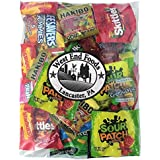 Candy Assortment (1 Pound) of Gummy Bears, LifeSavers, Skittles, Starburst, Swedish Fish, Twizzlers, Nerds, Sour Patch, Lollipops for Party Snacks
