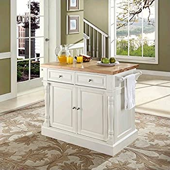 AmazoncomCrosley Furniture Cambridge Natural Wood Top Kitchen