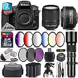 Holiday Saving Bundle for D810 DSLR Camera + 18-140mm VR Lens + 35mm 1.8G DX Lens + 500mm Telephoto Lens + 6PC Graduated Color Filer Set + 2yr Extended Warranty + Battery - International Version