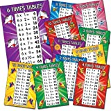 MATHS5 A4 Times Table Card Posters 2-12 (Pack of 11)