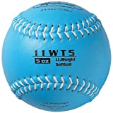Markwort Color Coded Weighted 11-Inch Softball (5-Ounce, Columbia Blue)